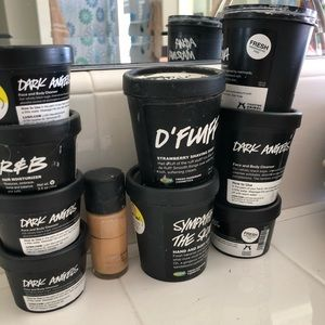 9 lush containers 1 Mac foundation bottle
